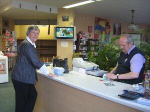 Customer buying an item.