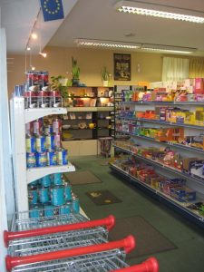 Image of shelves in store.